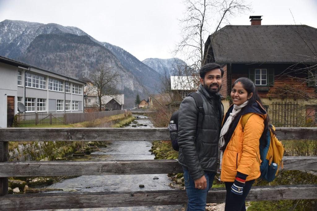 A picture taken at Hallstatt in Salzburg