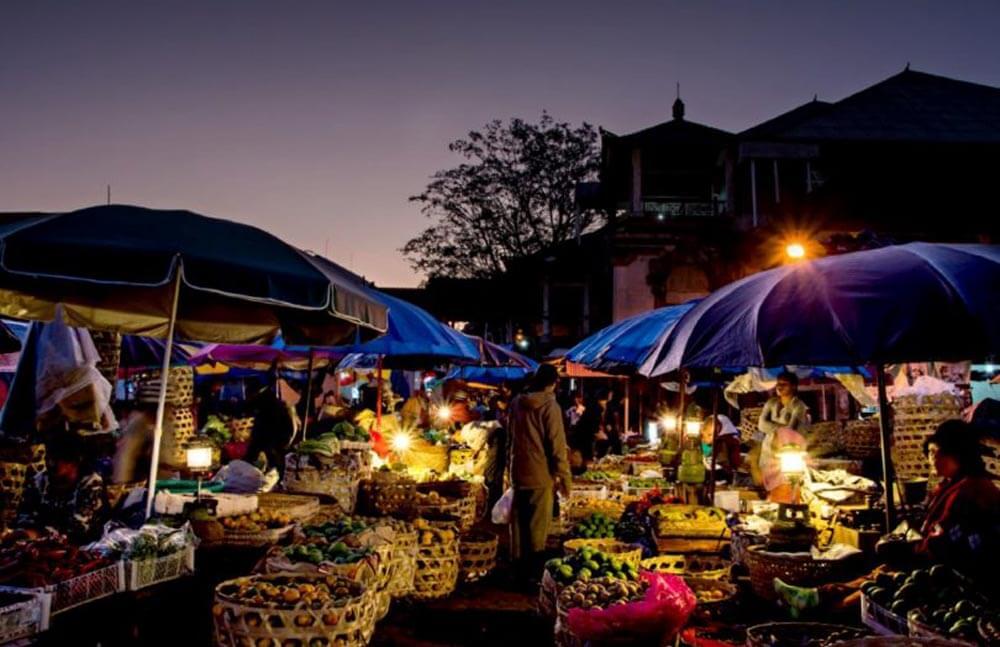 Pasar sindhu night market in sanur beach