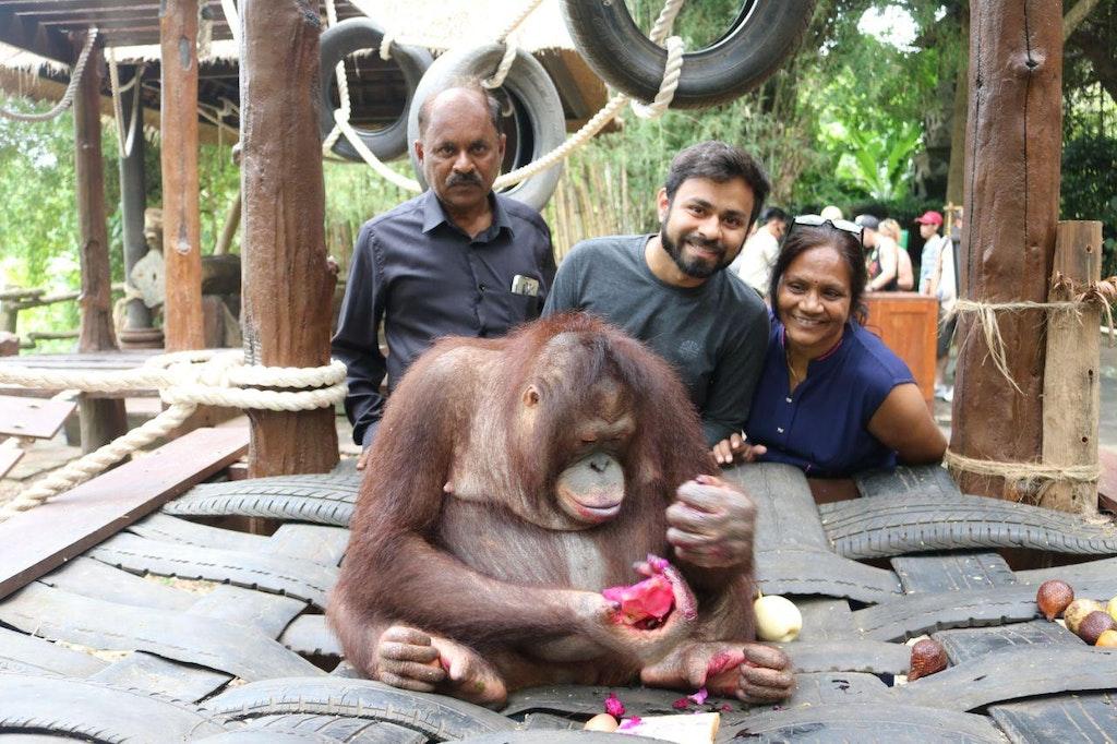 Ajinkya with his family