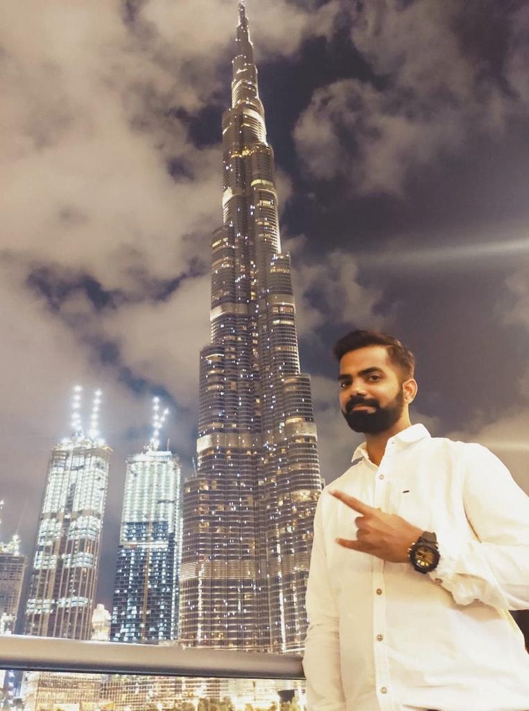infront of Burj Khalifa