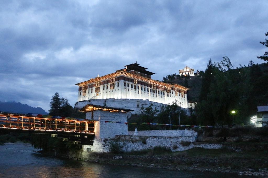 A view of Rinpung Dzong, Bhutan