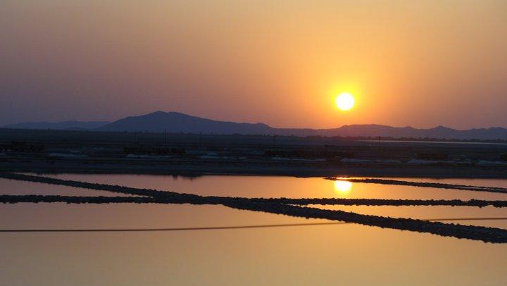 An old picture of Sambhar Salt lake