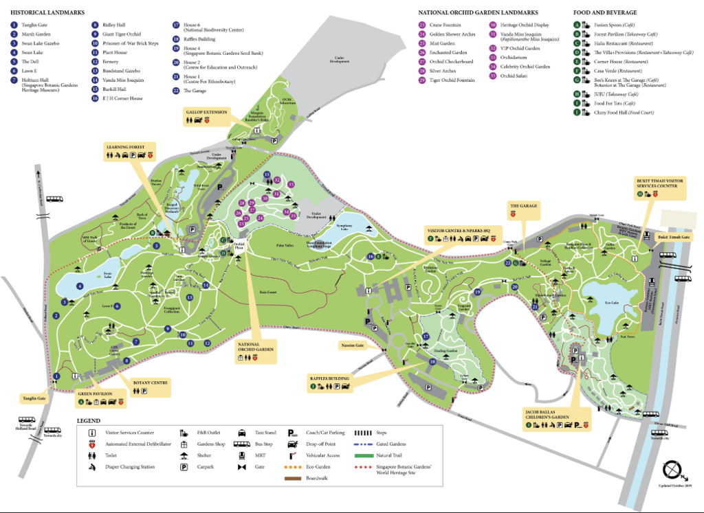 The Map of the Royal Orchids Garden