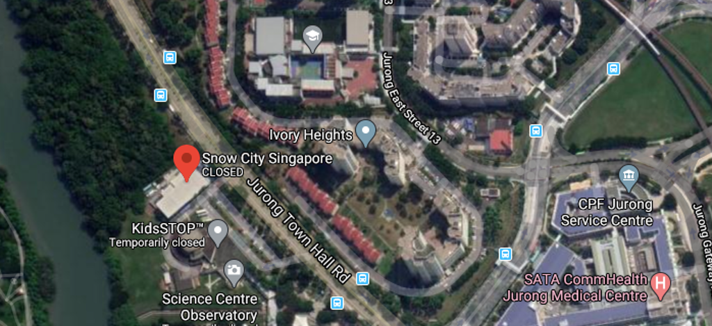 Location of the Snow City Singapore