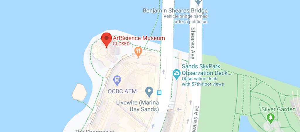 Location of the ArtScience Museum