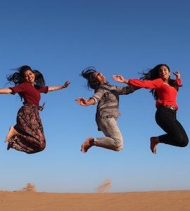 A group friends enjoying their days at Dubai