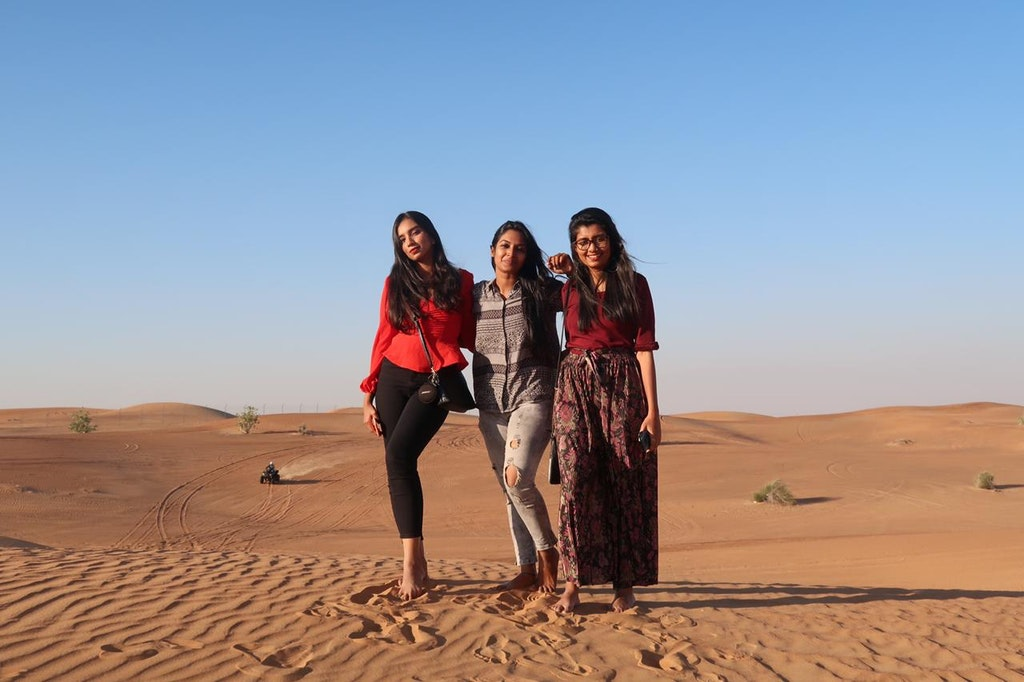 A picture on trip to Dubai