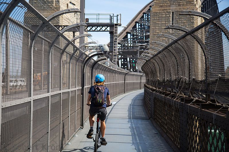 Cycling on the Sydney Harbour Bridge