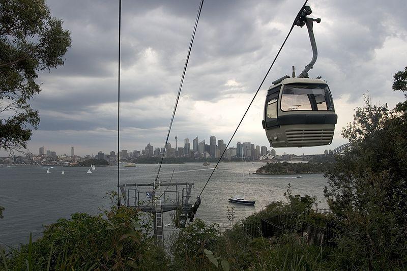 Sky Safari Cable Ride Taronga Zoo
