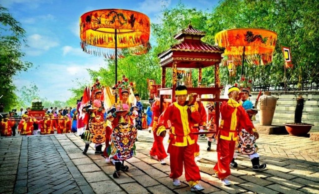Procession at Hung King Temple Festival