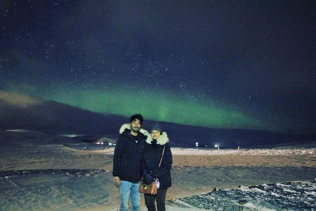A breathtaking view of Northern lights tour, Reykjavik