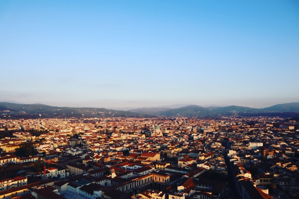 A picture of the entire view of city in Italy