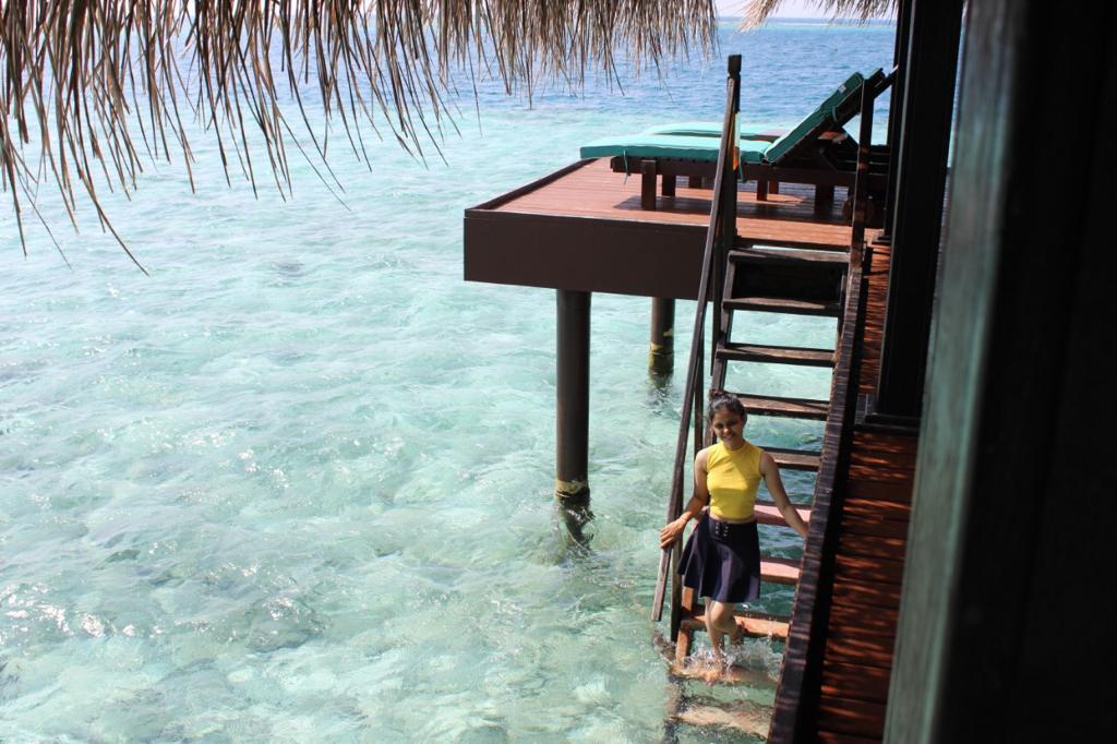 A resort in maldives