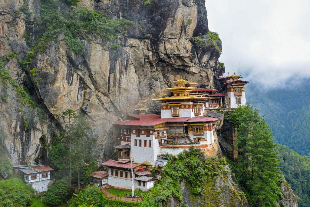 A picturesque view of Taktsang monastery for hiking in Bhutan