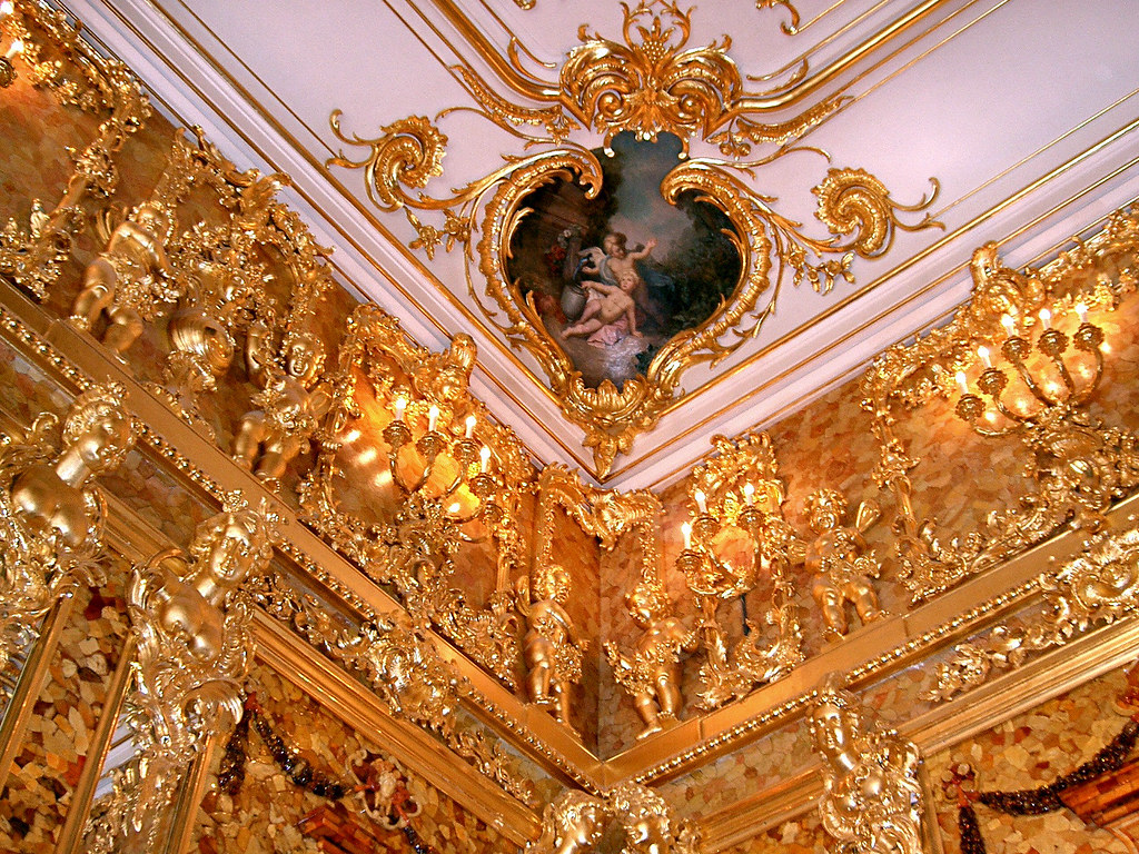 Amber Room - The ceiling