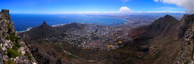 Cape town view from Table Mountain