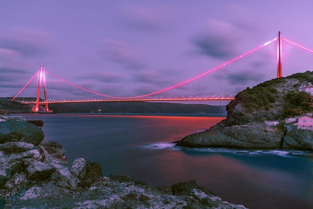 Bosphorus Bridge in Turkey