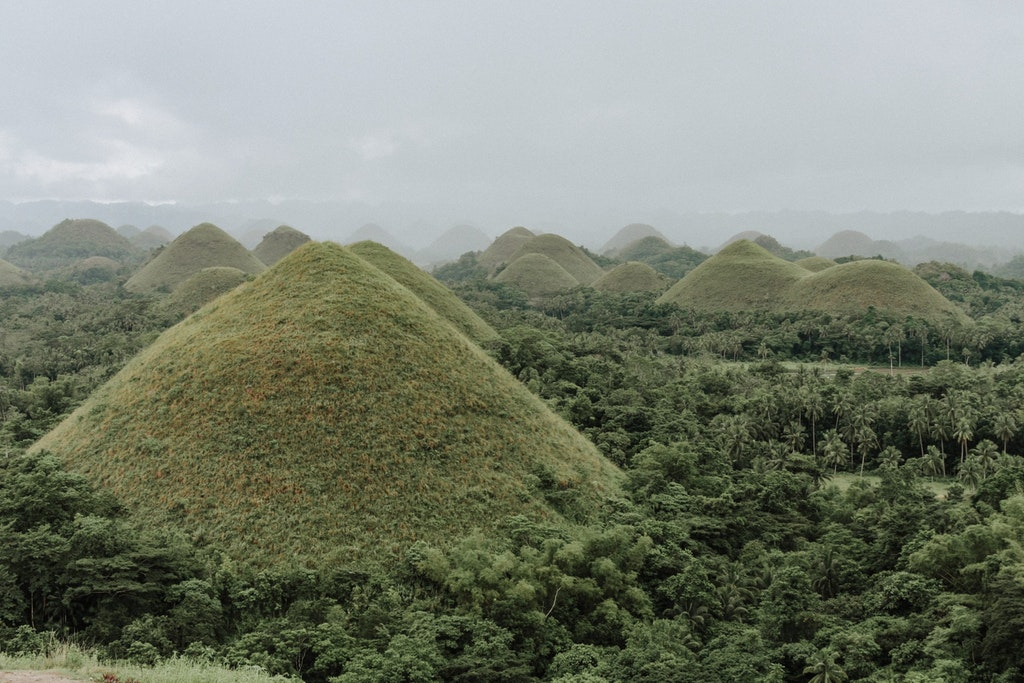 The Chocolate Hills in the Phillipines