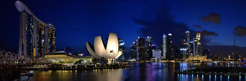 The view of Singapore at Night