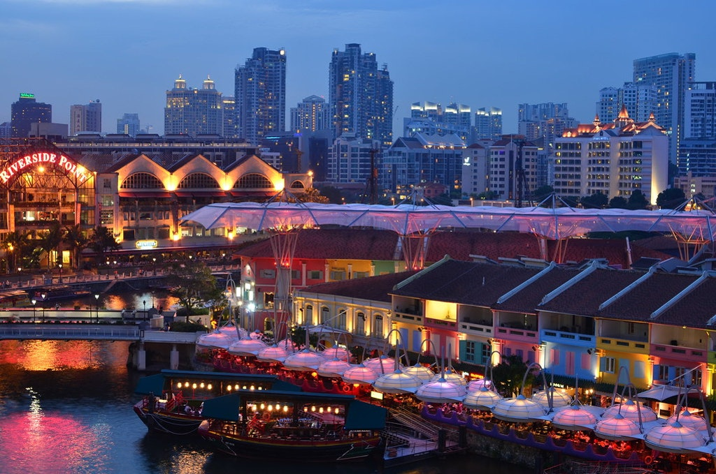 Clarke Quay, top 5 places to visit in East coast of singapore