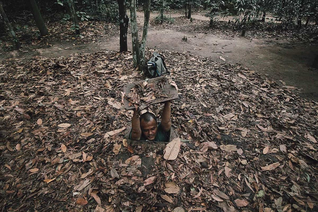 One of the trap in cu chi tunnel