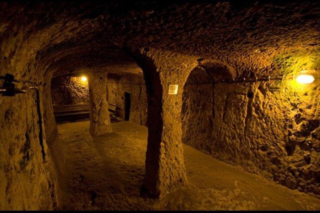 Inside cu chi tunnels vietnam