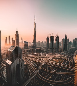 An amazing view of the Dubai city, UAE