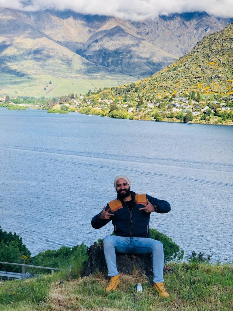 Enjoying beauty of Lake Wanaka