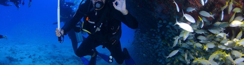 Scuba diving at Maldives
