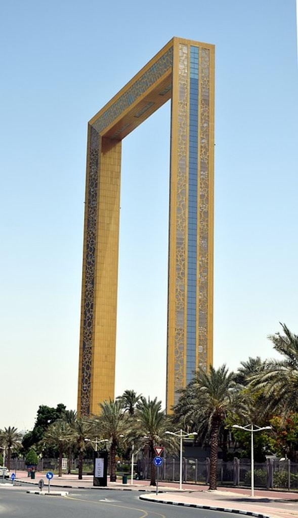Dubai frame from a distance