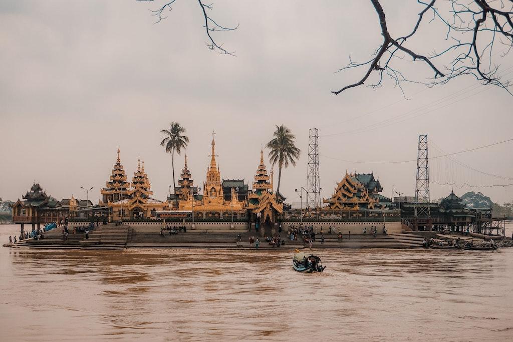A view of Yangon, Myanmar