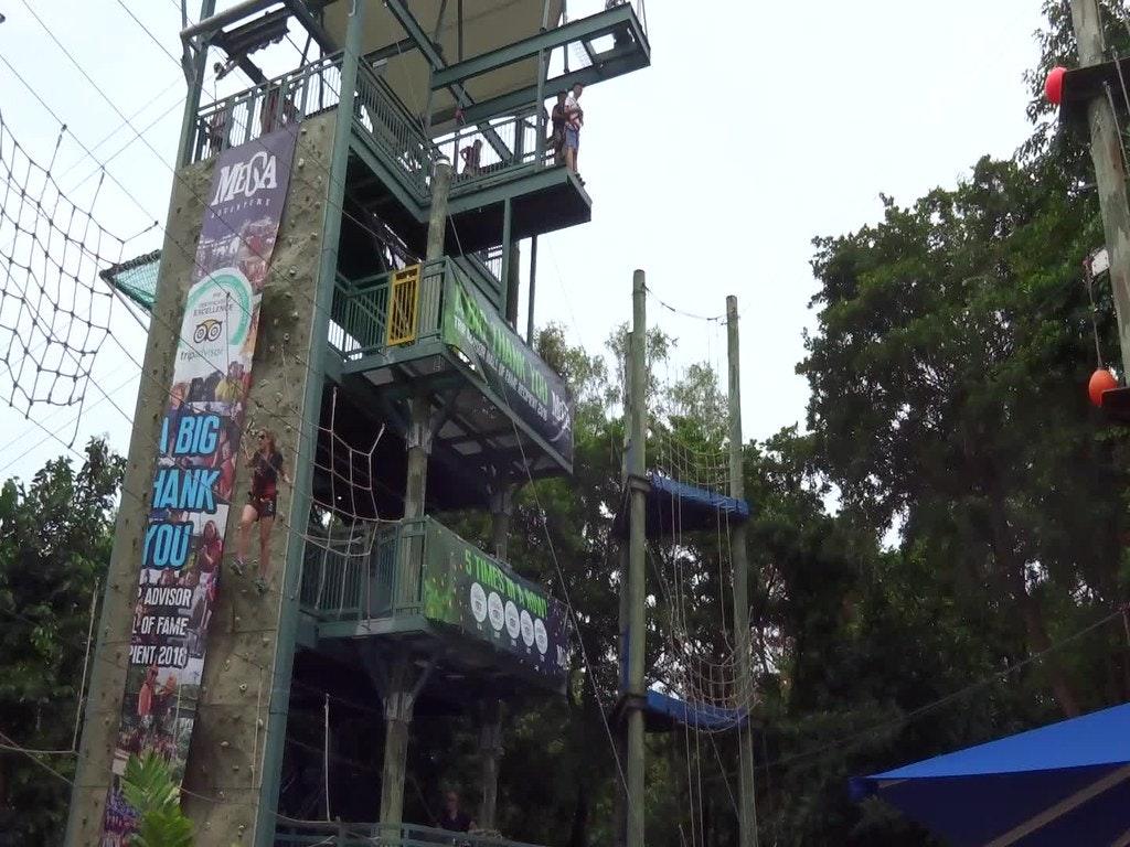 Mega fall at the Mega Adventure Park