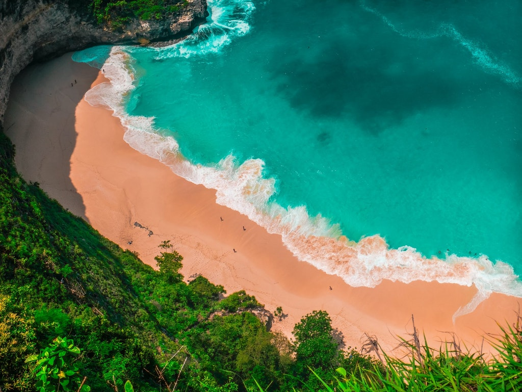 klingking beach, bali, indonesia