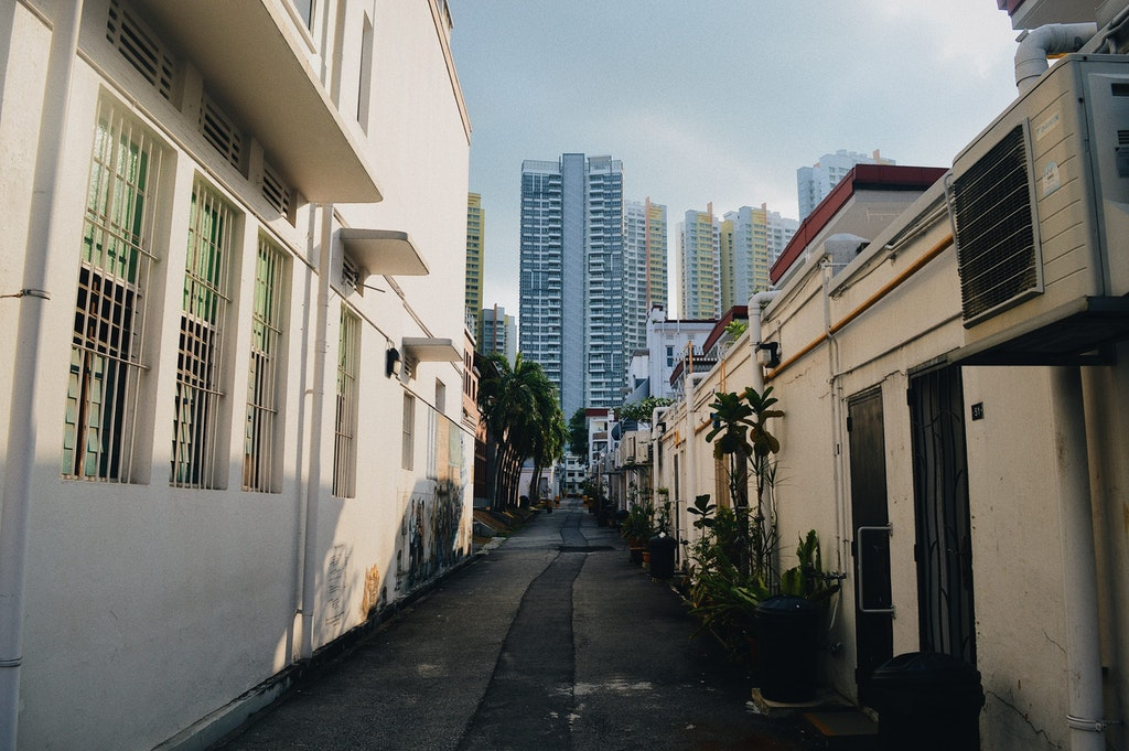 Street of Tiong Bahru in SIngapore