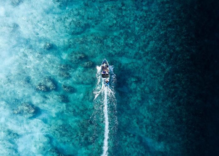 View of Maldives ocean