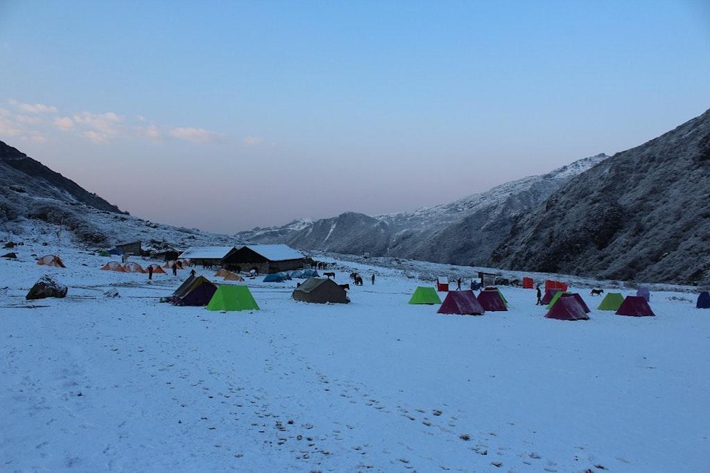 A picture of Goecha la trek, India