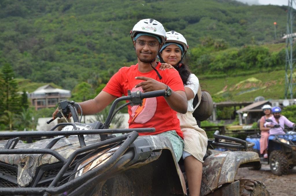 Quad biking with wife