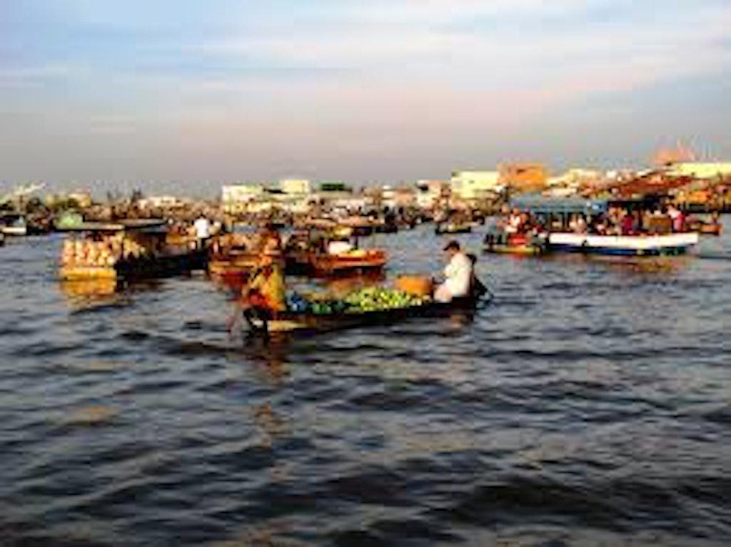 Cai Rang Floating Market In Ho Chi MInh, Vietnam