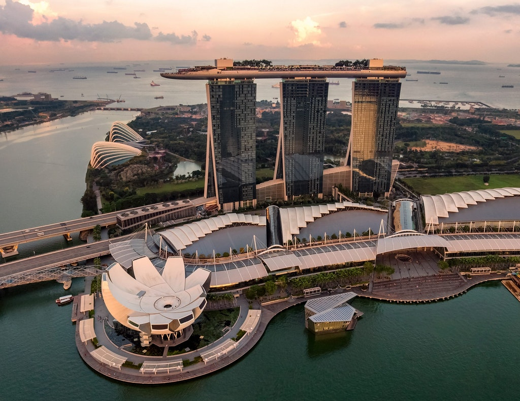 View of Marina Bay Sands in Singapore