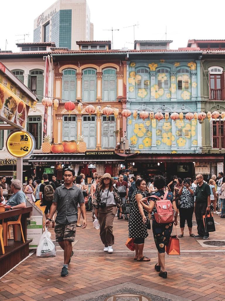 Chinatown street market in Singapore