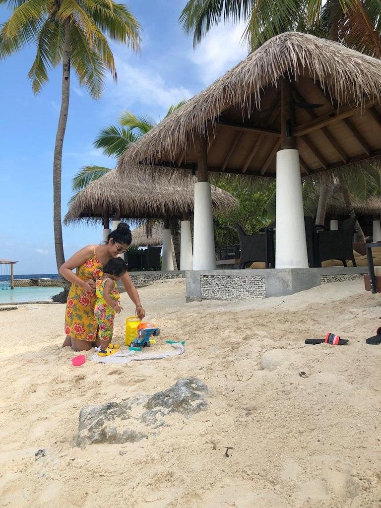 enjoying the stay at maldives