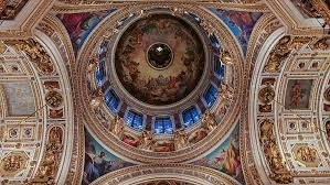 The magnificent interiors of the St. Basil's cathedral