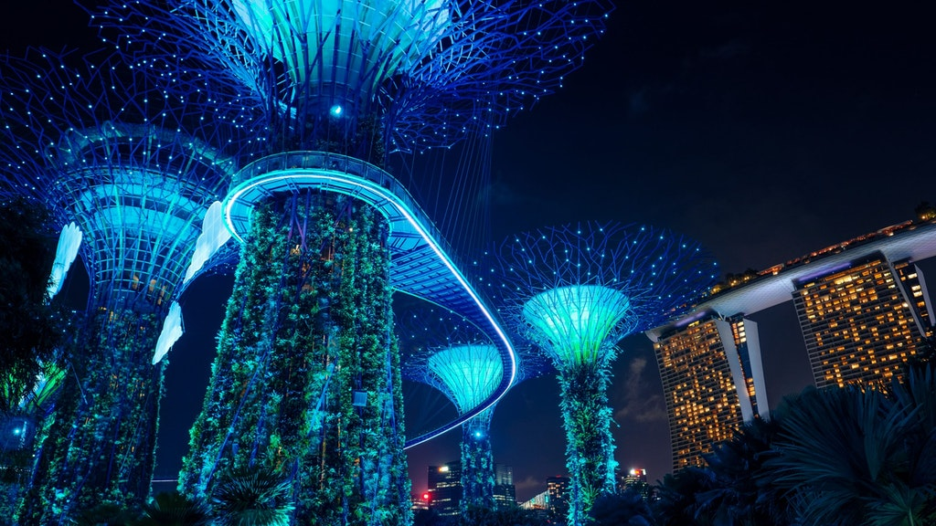 beautiful view of gardens by the way in Singapore