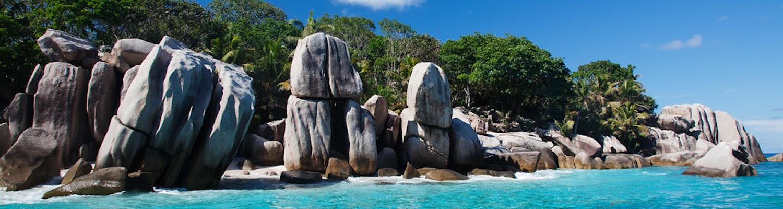Rocks of Ile Coco Beach