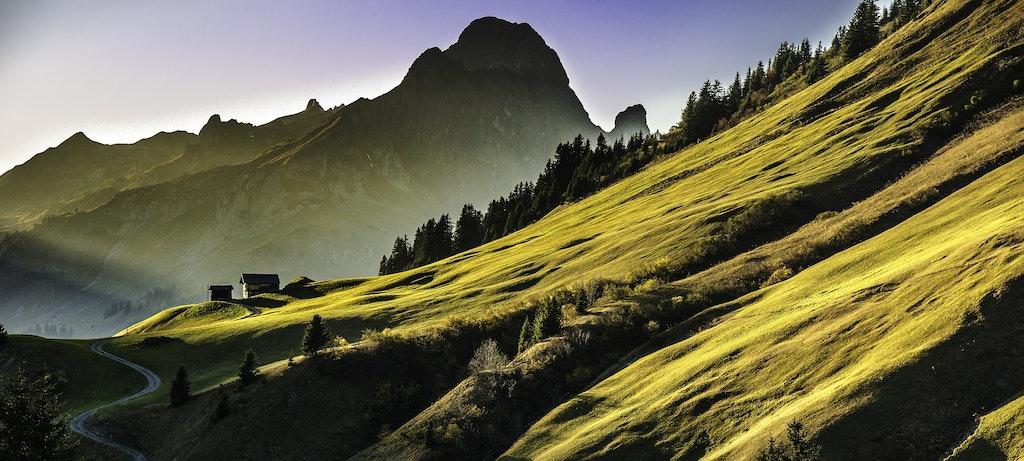 Beautiful hills in Uttarakhand