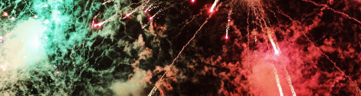 A picture of firecrackers burst in Mauritius