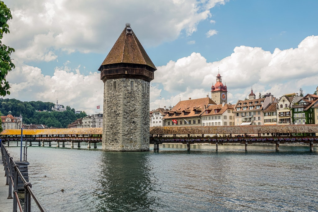 Chapel Bridge in Lucerne, Places to Visit In Switzerland in March