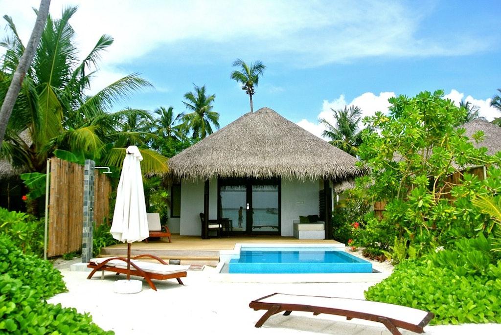 Pool villa in Maldives
