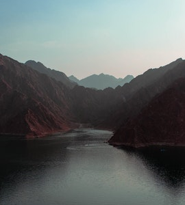 The view of lake in Hatta