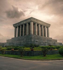 Ho Chi Minh Mausoleum in Hanoi, Vietnam
